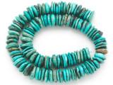 Turquoise Irregular Disc Beads 12-14mm (TUR1400)