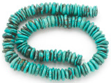 Turquoise Irregular Disc Beads 11-14mm (TUR1401)
