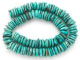 Turquoise Irregular Disc Beads 11-13mm (TUR1402)