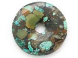 Turquoise Donut Pendant 48mm (TUR1375)