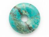 Turquoise Donut Pendant 25mm (TUR1403)
