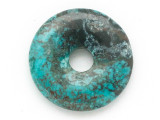 Turquoise Donut Pendant 25mm (TUR1406)