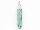 Sterling Silver & Amazonite Pendant 40mm (GSP2429)