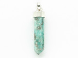 Sterling Silver & Amazonite Pendant 37mm (GSP2435)