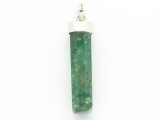 Sterling Silver & Moss Agate Pendant 42mm (GSP2436)