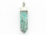 Sterling Silver & Amazonite Pendant 37mm (GSP2438)