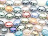 Multi-Color Oval Crystal Glass Beads 16mm (CRY525)