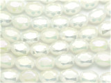 Ivory Oval Crystal Glass Beads 16mm (CRY530)