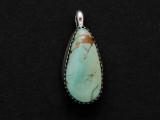 Sterling Silver & Turquoise Teardrop Southwestern Pendant 27mm (AP2054)