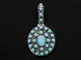 Sterling Silver & Turquoise Southwestern Pendant 54mm (AP2070)