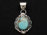 Sterling Silver & Turquoise Southwestern Pendant 32mm (AP2081)