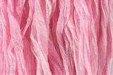"Pastel Pink Hand Stitched Silk Fairy Ribbon 42"" (SK1032)"