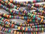 Multi-Color Vinyl Disc Beads 4mm (VY241)
