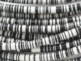 Black & White Vinyl Disc Beads 6mm (VY243)