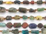 Old Mixed Afghan Glass Beads 5-20mm (AF1870)