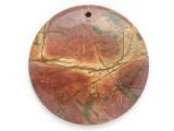 Red Creek Jasper Gemstone Pendant 45mm (GSP2490)