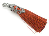 "Copper Brown Ornate Thread Tassel - 4"" (AP2110)"