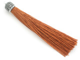 "Copper Brown Rhinestone Thread Tassel - 3.5"" (AP2113)"
