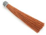 """Copper Brown Rhinestone Thread Tassel - 3.5"""" (AP2113)"""