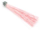 "Light Pink Rhinestone Thread Tassel - 3.5"" (AP2119)"