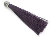 "Dark Purple Rhinestone Thread Tassel - 3.5"" (AP2120)"