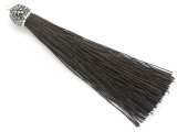 "Dark Brown Rhinestone Thread Tassel - 3.5"" (AP2121)"