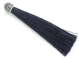 "Dark Blue Rhinestone Thread Tassel - 3.5"" (AP2122)"