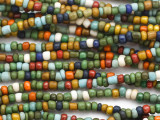 "Green & Multi-Color Glass Beads - 44"" strand (JV9097)"