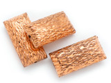 Textured Rectangular Copper Bead 24mm (ME500)