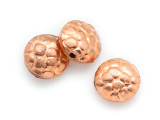 Textured Round Tabular Copper Bead 10mm (ME504)