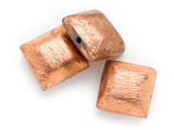 Square Pillow Copper Bead 12mm (ME505)