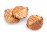 Textured Round Tabular Copper Bead 16mm (ME509)