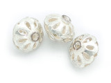 Ornate Saucer Aluminum Bead 12mm (ME519)