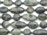 Kambaba Jasper Round & Oval Tabular Gemstone Beads 15-30mm (GS4868)