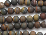 Matte Tiger Iron Round Gemstone Beads 10mm (GS4870)