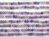 Amethyst Faceted Rondelle Gemstone Beads 3-4mm (GS4871)