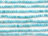 Turquoise Magnesite Faceted Rondelle Gemstone Beads 3-4mm (GS4873)