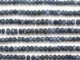 Dumortierite Faceted Rondelle Gemstone Beads 4-5mm (GS4874)