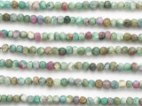 Ruby Zoisite Faceted Rondelle Gemstone Beads 3-4mm (GS4875)
