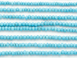 Turquoise Magnesite Faceted Rondelle Gemstone Beads 3mm (GS4876)