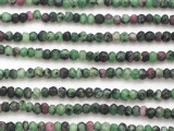 Ruby Zoisite Faceted Rondelle Gemstone Beads 3-4mm (GS4877)