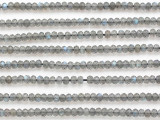 Labradorite Faceted Rondelle Gemstone Beads 3mm (GS4878)