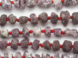 Ruby Rough Nugget Gemstone Beads 10-14mm (GS4880)