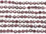 Garnet Faceted Teardrop Gemstone Beads 5-6mm (GS4881)