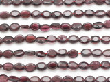 Garnet Faceted Oval Gemstone Beads 5-6mm (GS4882)