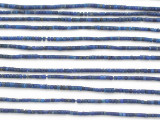 Lapis Lazuli Cylinder Gemstone Beads 1-2mm (GS4883)
