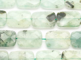 Prehnite Faceted Rectangular Gemstone Beads 25mm (GS4885)