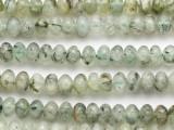 Dark Prehnite Rondelle Gemstone Beads 8mm (GS4890)