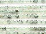 Prehnite Faceted Round Gemstone Beads 6mm (GS4899)
