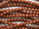Brown Goldstone Gemstone Beads 6mm (GS4903)